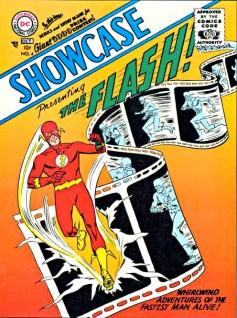 Showcase #4 (1956), a primeira aparição de Barry Allen, o novo Flash, teria dado início a Era de Prata segundo alguns especialistas.