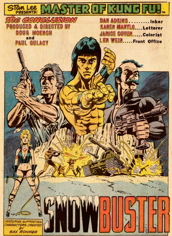 Paul Gulacy & Doug Moench, Master of Kung Fu #31