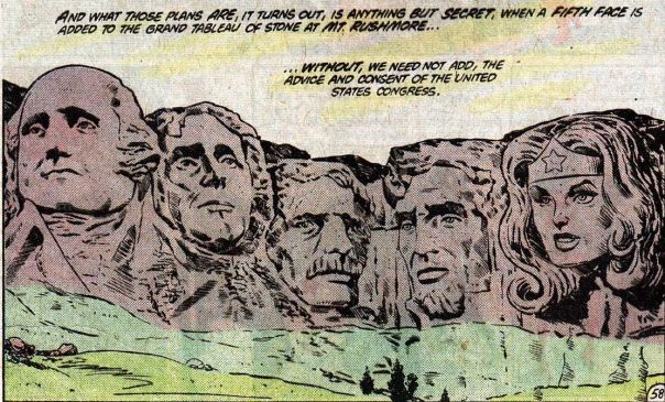 comic book Mount Rushmore