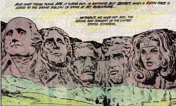 comic book Mount Rushmore
