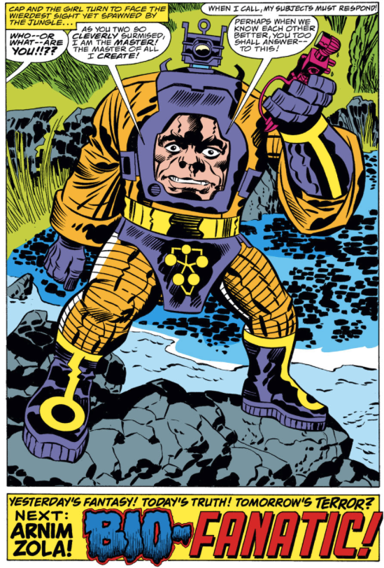 first appearance Arnim Zola, Captain America #208, Jack Kirby