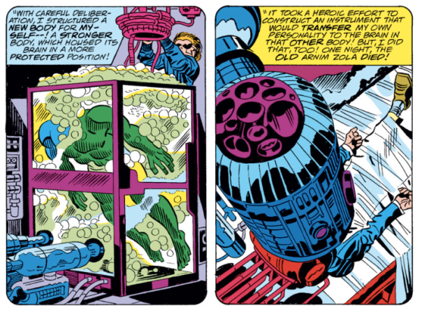 Captain America #209, origin of Arnim Zola, Jack Kirby