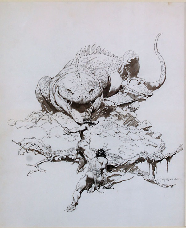 A Fighting Man of Mars, Frank Frazetta