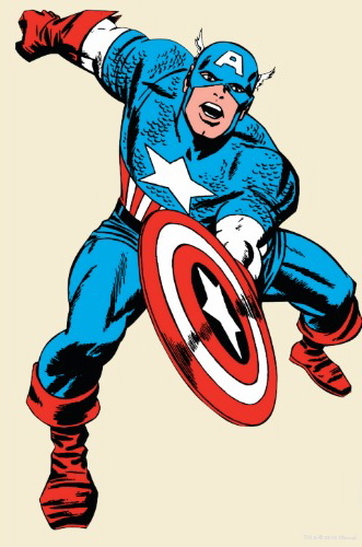 Captain America, by Jack Kirby