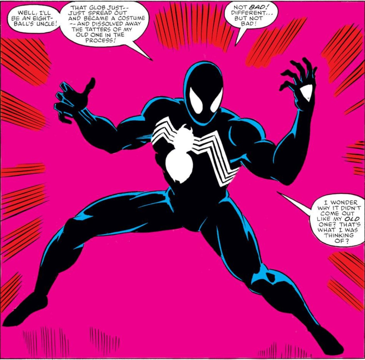 Image result for black spiderman suit 1980's