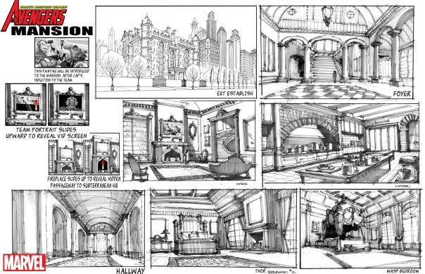 Avengers Mansion, animation style!