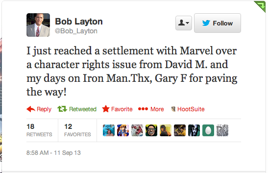 Bob Layton Tweet