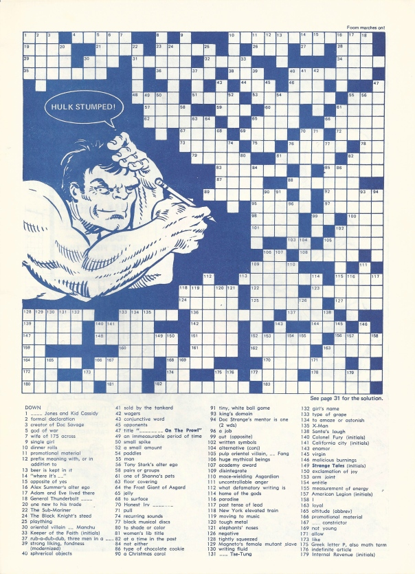 Hulk Crossword