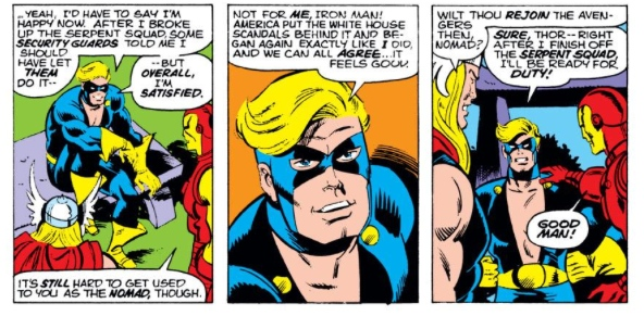 Nomad and the Avengers, by Steve Englehart & Sal Buscema