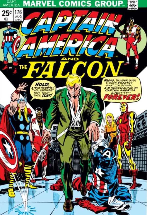 Captain America #176 cover by John Romita