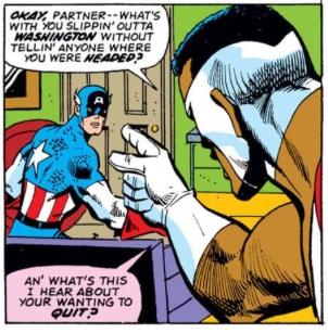 Falcon Confronts Captain America, by Steve Englehart & Sal Buscema