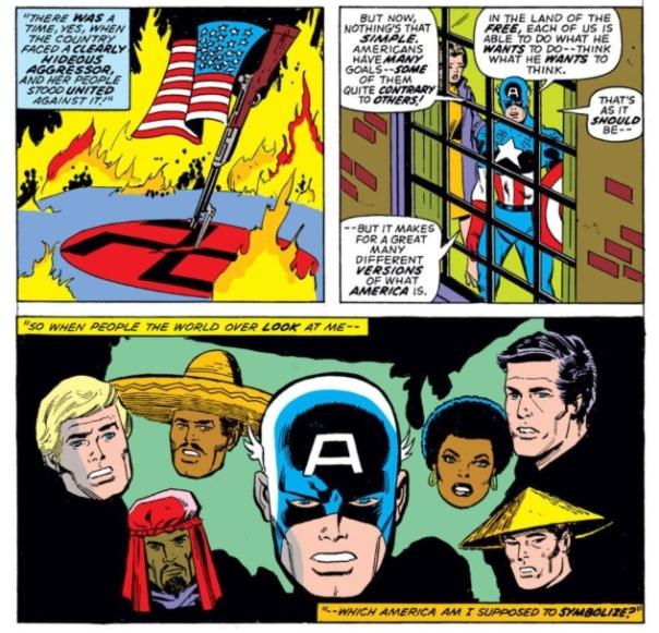 Captain America's identity crisis, by Steve Englehart & Sal Buscema