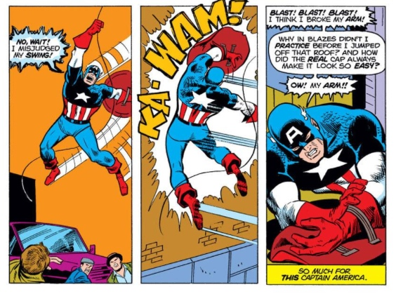 Captain America impersonator, by Steve Englehart & Sal Buscema