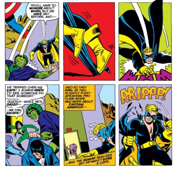 Nomad in action, by Steve Englehart & Sal Buscema
