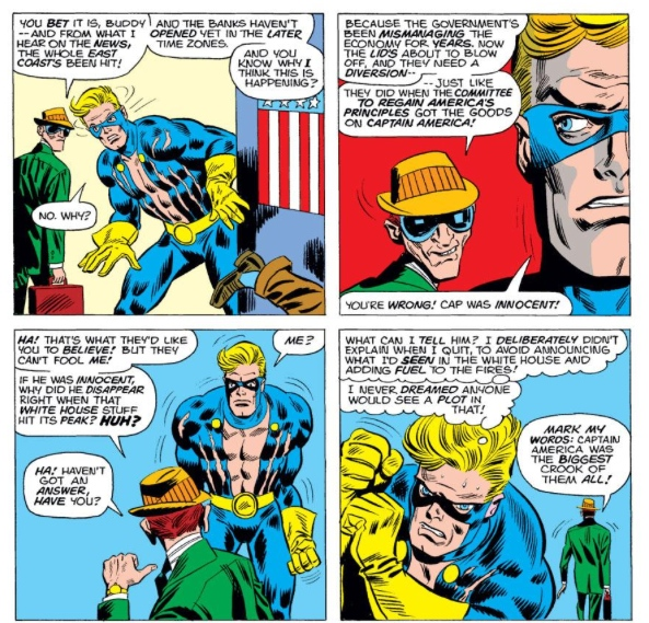 Nomad wrestles with his conscience, by Steve Englehart & Frank Robbins