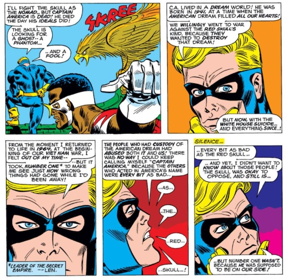 Nomad reconsiders his identity, by Steve Englehart & Frank Robbins