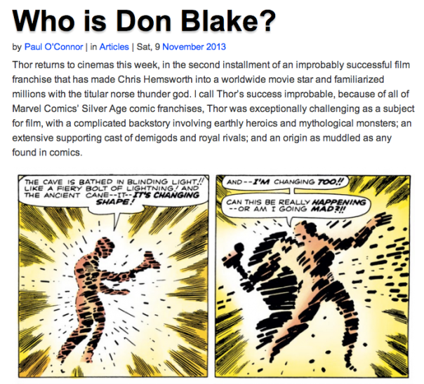 Who Is Don Blake?