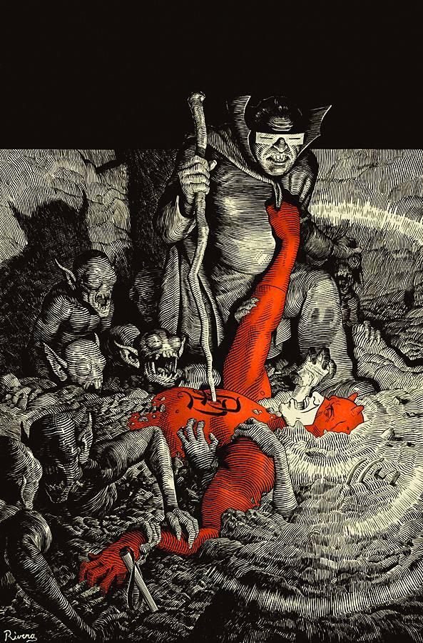 Daredevil vs Mole Man by Paolo Rivera