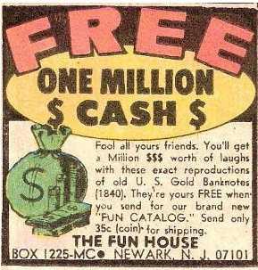 comic book money!