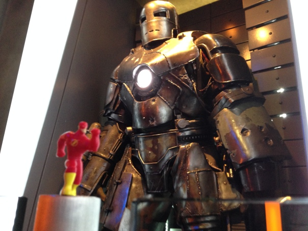 The Flash photobombs Iron Man!