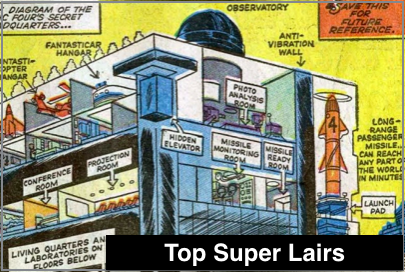 Top 10 Superhero Lairs
