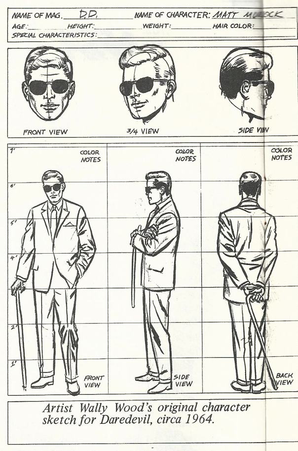 Matt Murdoch Character Design by Wally Wood