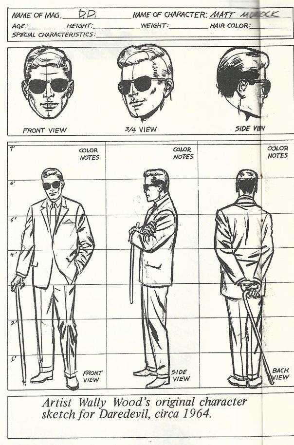 Matt Murdoch Character Design by Wally Wood