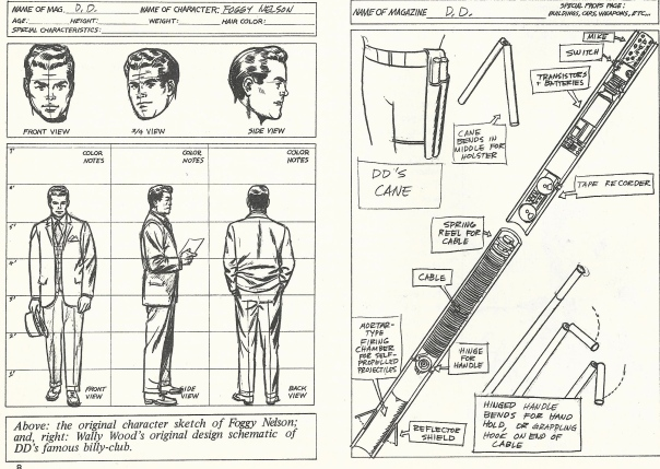 Foggy Nelson, and DD baton designs by Wally Wood