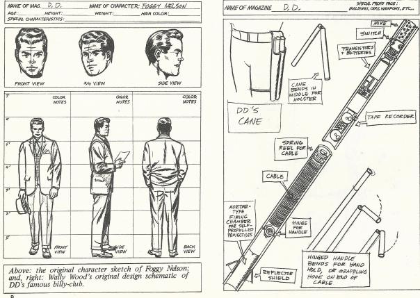 Foggy Nelson, and DD baton designs by Wally Wood