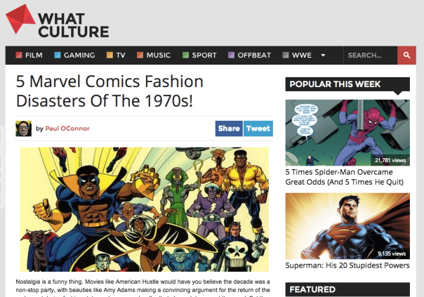 5 Marvel Comics Fashion Disasters Of The 1970s!