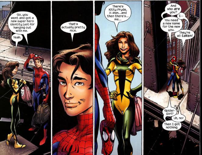 kitty pryde spiderman upoznavanje s nekim koji ima pozitivan sef