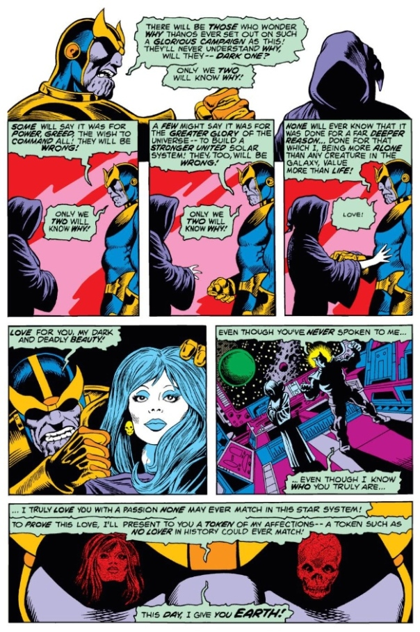 Thanos & Death, by Jim Starlin