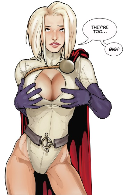 Power Girl Comic Book Boob Job