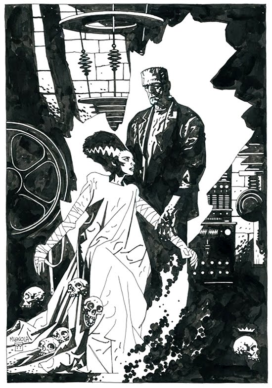 Monster & Bride, by Mike Mignola