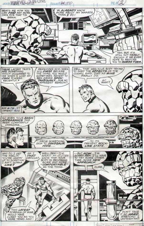 John Byrne, Marvel Two-In-One #50