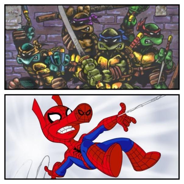 TMNT vs. Spider-Ham