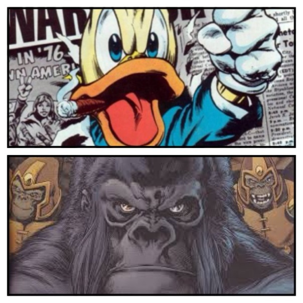 Howard the Duck vs. Gorilla Grodd!