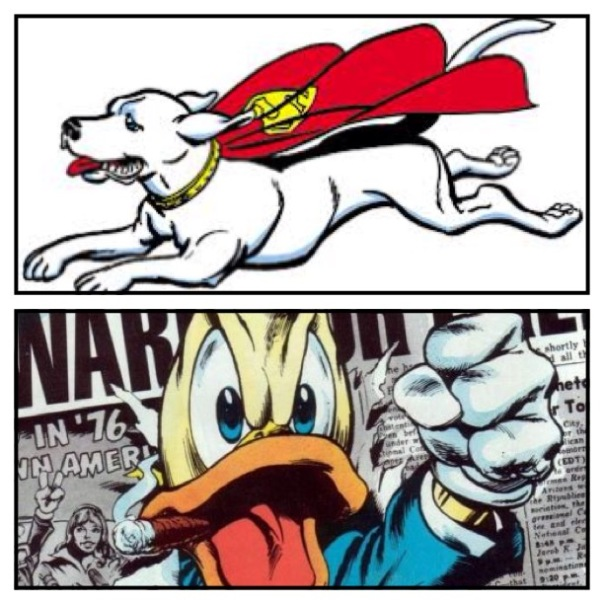 Krypto vs. Howard the Duck