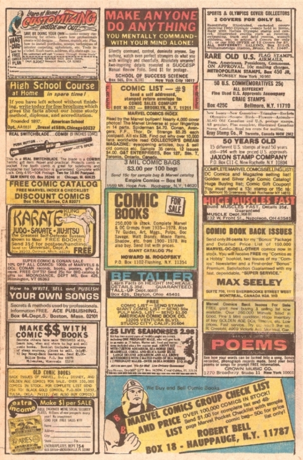 Comic Book Ad Page