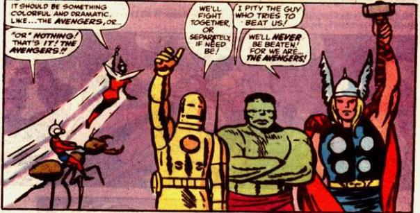 Hank Pym names the Avengers