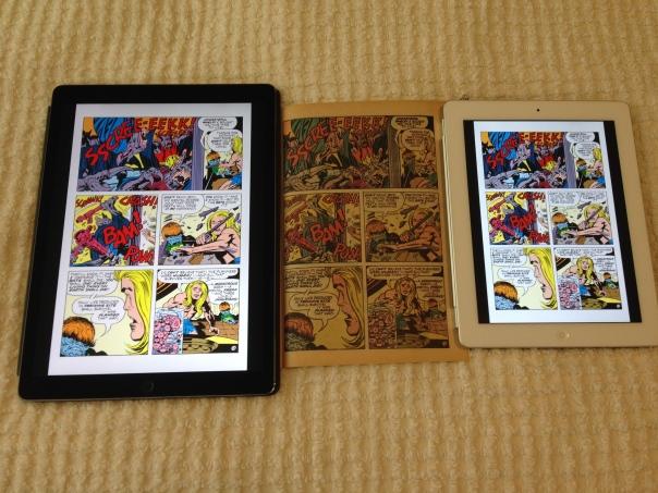 iPad comics page