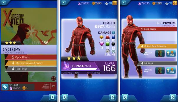 Marvel Puzzle Quest Cyclops
