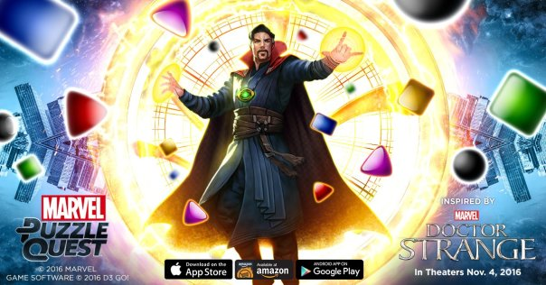 Doctor Strange comes to Marvel Puzzle Quest
