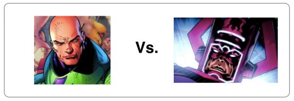 Lex Luthor vs Galactus!
