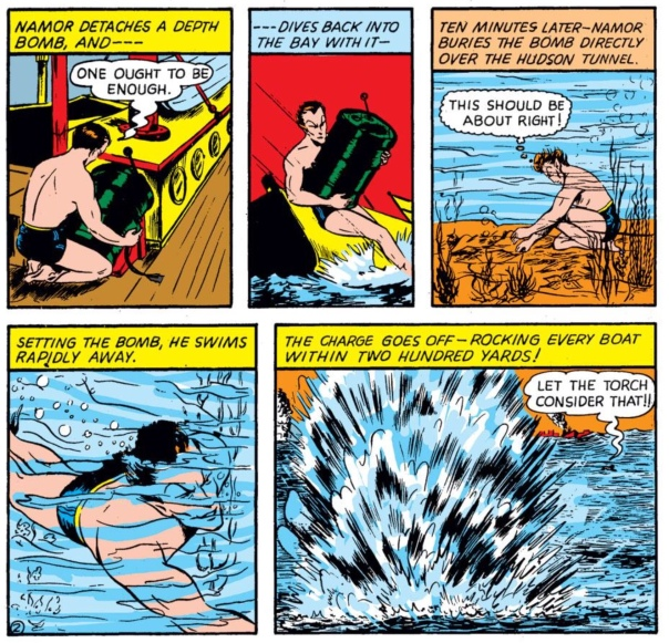 Sub-Mariner by Bill Everett, Marvel Mystery Comics #8