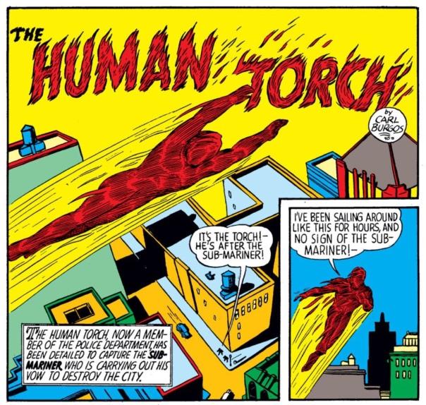 Human Torch by Carl Burgos, Marvel Mystery Comics #8
