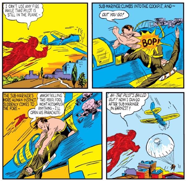 Human Torch vs Sub-Mariner by Bill Everett, Marvel Mystery Comics #9